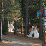 RV park Camping Nevada City Tee Pee