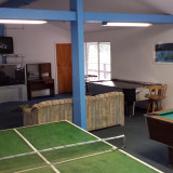 Recreation room at campground Nevada City
