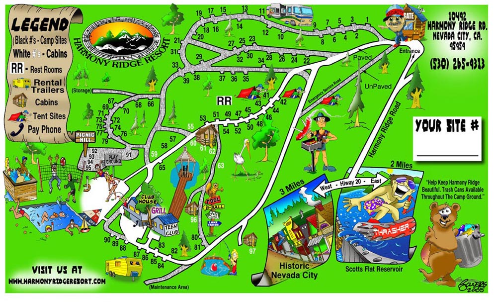 RV campground map